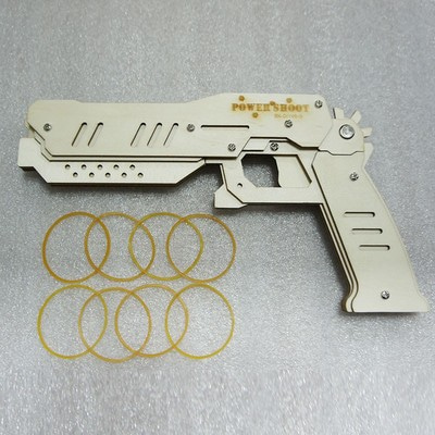 Baby Kids Toy Guns Pistol Wooden Puzzle Soft Bullet DIY Toys Children Weapon Rubber Band Guns Pistola Brinquedo Armas Que Atiram